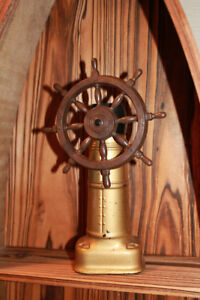 Vintage old spice ships wheel decanter cologne bottle