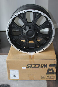 "20"" Black Aftermarket Wheel Rim Sierra Silverado F-150 Dodge Ram MPI FINANCING AVAILABLE"
