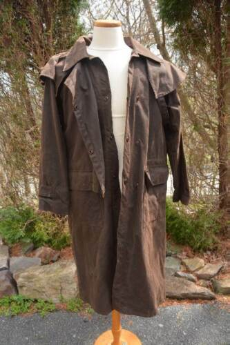 OUTBACK TRADING #2040 BUSH TRADER Waxed Cotton OILSKIN DUSTER COAT Jacket Small