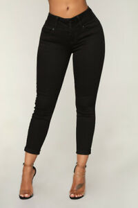 Fashion Nova - Forever Mine Booty Lifting Jeans in Black Size 3