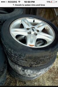 2002  225 55R17 on 5 bolt Lincoln Ls rims/tires Mint