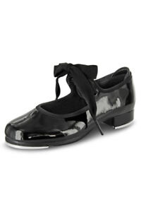 Bloch Black Patent Leather Tap Shoes Size 7  Very Nice