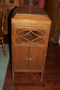 VICTROLA:  PathePhone cabinet phonograph.