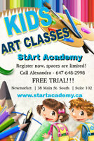 Art class for kids located newmarket