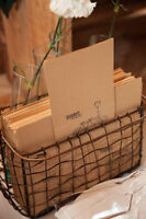 Wedding Decorations - Wire Basket and Dessert Table Treat Bags