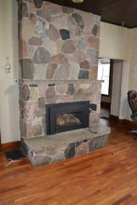 Real stone fireplace surround