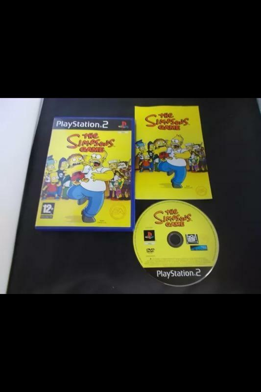 The Simpsons Game Playstation 2 In Grimsby Lincolnshire