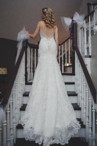 Backless lace Allure wedding gown