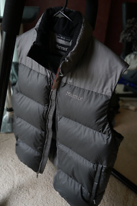 Marmot Down Vest -  The North Face jacket - Coal beanie - hurley
