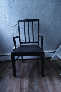 Old Style Black Wooden Chair