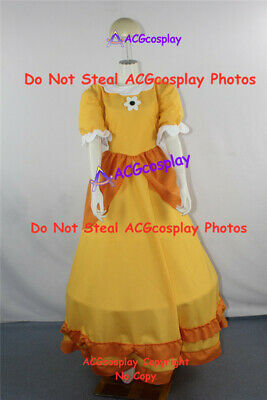 Princess Daisy Cosplay Costume dress from super mario cosplay include headwear (Daisy Costume Mario)