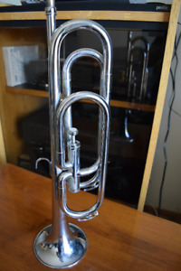 Silver Plated Single Valve BUGLE with Hard Case