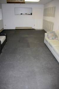 400sqft of anti-fatigue interlocking flooring mats-USED