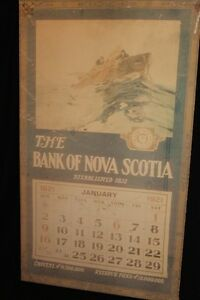 Bank of Nova Scotia  wooden  calender