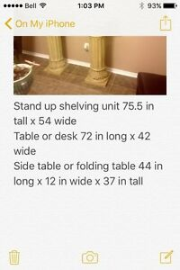 glass dinning table and matching hutch 5 in total