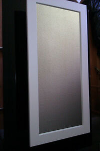 REFURBISHED (WHITE LACQUER) Single Door Framed Bathroom Medicine