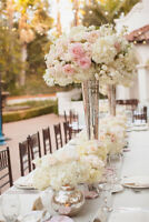 wedding centerpiece vase and artificial flower for sale