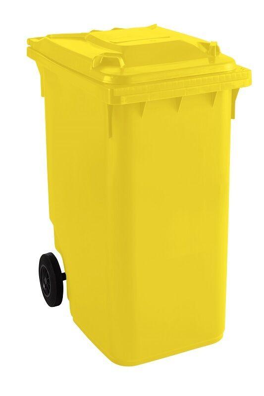 Großmülltonne Mülltonne Abfalltonne Abfallbehälter GMT 360 Liter gelb
