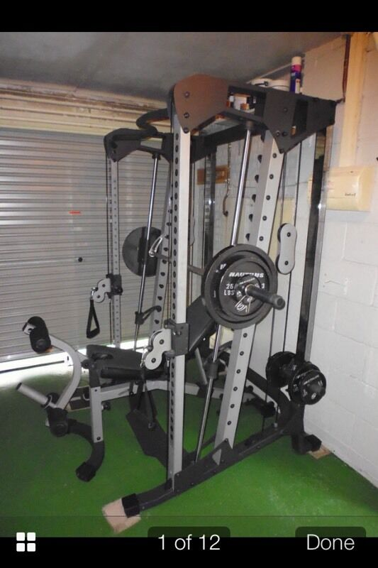 Nautilus nt cc smith machine with cable cross over in