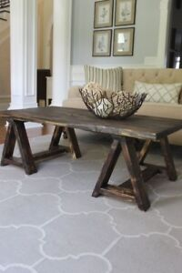 New Unique Rustic Coffee Table - Real Wood - Delivery Available