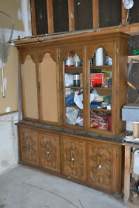 SOLID WOOD Display Cabinet Storage Shelf Unit Garage Basement