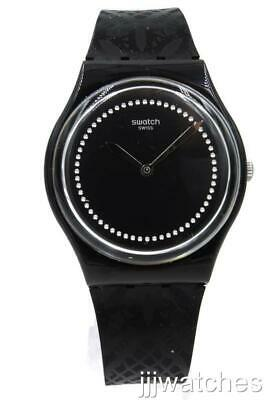 New Swatch Swiss Originals DENTELLE Black Silicone Women Watch 34mm GB320 $75