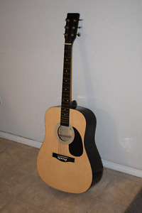 Acoustic Guitar with Carrying Case, Capo and Picks