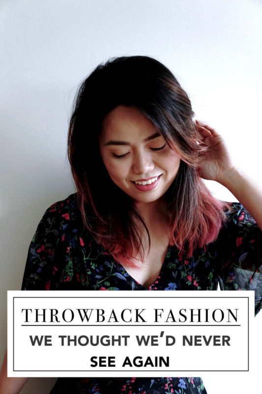 Take a trip down memory lane and catch up on these throwback fashions and how you can give them a modern twist!