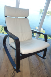IKEA POANG ROCKING ARM CHAIR LEATHER BRAND NEW!!