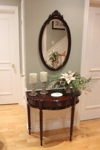 Hall Console and Mirror for Sale