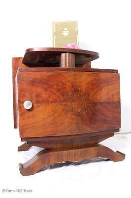 Selten! Antiker Art Déco Nachttisch Nachtschrank Beistellschrank Flrurr-Telefont