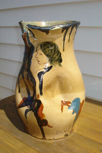 Vintage Art Pottery Vase  by BUXO circa 1970
