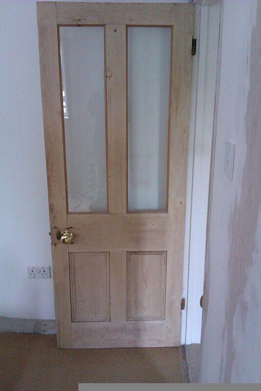 6x Victorian Stripped Pine Doors with Brass Door Knobs (job lot or ...