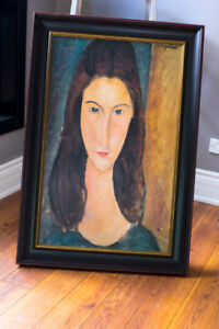 Portrait of a Young Girl (oil on canvas) by Modigliani, Amedeo (