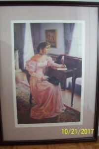 "FRAMED L/E SIGNED SANDRA KUCK PRINT  ""MY DEAREST"" **NEW PRICE**"