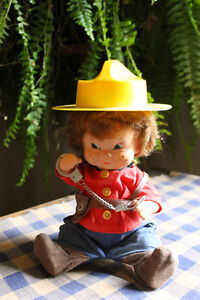 Vintage CANADIAN MOUNTIE DOLL