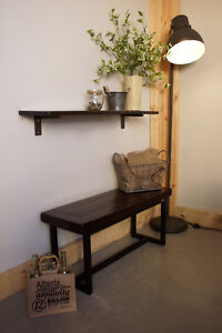 Reclaimed Wood Entryway Bench By LIKEN Woodworks