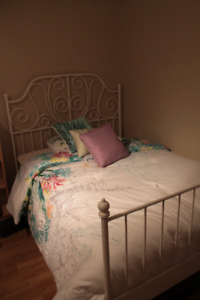 IKEA White Double BED FRAME!! Like NEW!!!