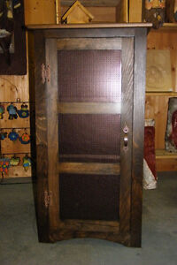 Custom Made Solid Wood Country Jelly Cupboard/Pie Safe