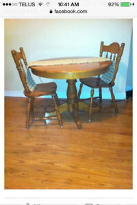 Dining / kitchen table and 2 chairs