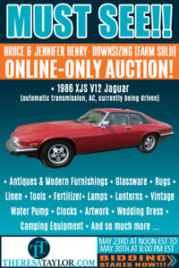 ONLINE ONLY AUCTION - Theresa Taylor Auctioneering - Ends 05/30