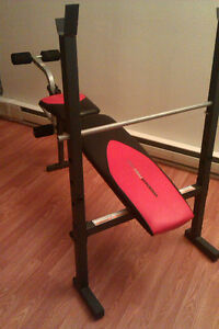Workout Weight Bench Press with stand