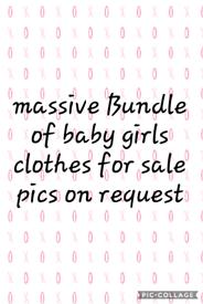 MASSIVE BABY GIRL CLOTHING BUNDLE
