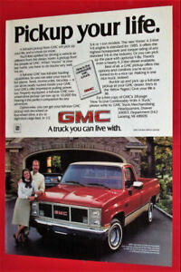 ANONCE RETRO - 1985 GMC 1/2 TON PICKUP TRUCK COOL VINTAGE AD