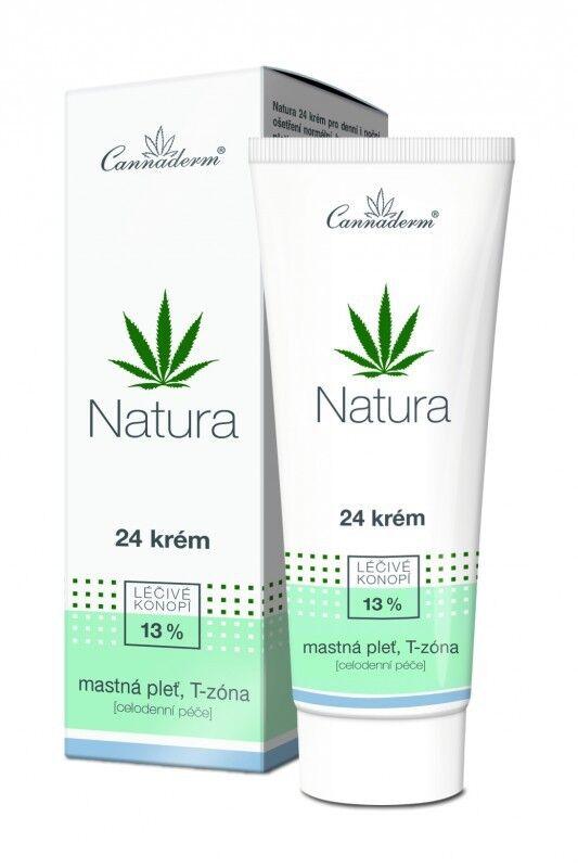 Cannaderm NATURA Bio Gesichtscreme mit Hanföl für trockene und gereizte Haut 75g