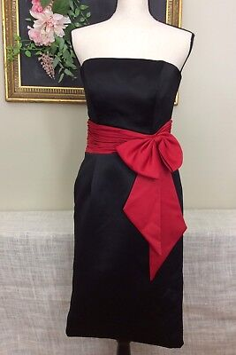 Womens Kirstie Kelly Maidens for Disney Black Strapless Dress Red Bow sz - Disney Dresses For Adults