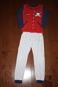 Long Sleeve Baby GAP Pyjama Set - Baseball 5T