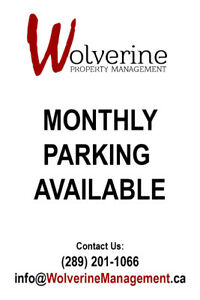 Monthly Parking 4 blocks from McMaster