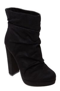 Black Suede Booties size 7