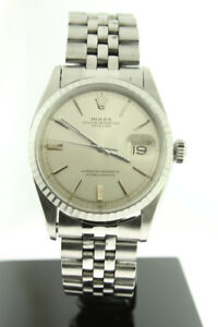 Rolex Datejust 36mm Stainless Steel Silver Dial 1603
